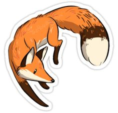 """Foxy"" Stickers by Drew Ann M. 