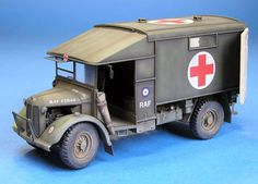 Austin Ambulance (Accurate Armour, scale) by Spencer Pollard Army Vehicles, Armored Vehicles, Plastic Model Kits, Plastic Models, Toy Tanks, Lancaster Bomber, Military Diorama, Diecast Models, Skin So Soft