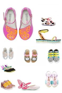 I found these colourful shoes from the Sophia Webster - mini line...