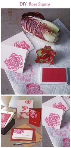 Zelf stempels maken: helemaal hot. Make your own stamp