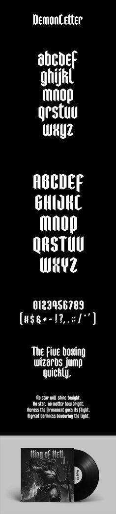 DemonLetter free font
