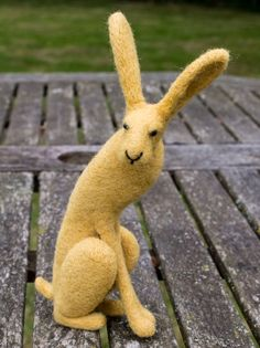 Daisy Artist: Karen Norton Needle Felted Hare handcrafted with New Zealand Wool