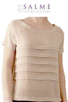 PDF Sewing pattern - Loose fitting pleated t-shirt. $7.00, via Etsy.