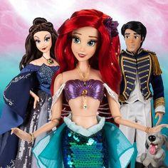 The little mermaid limited dolls ( UK and EU. Ariel and Vanessa will retail , Set platinum Ariel and Eric Disney Princess Dolls, Disney Dolls, Barbie Dolls, Little Mermaid Doll, Mermaid Dolls, Audrey Doll, Disney Store Uk, Ariel Doll, Halloween Costumes For Girls