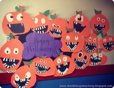 silly jack o lanterns! Halloween craft project for bulletin board