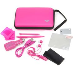 ButterFox 12in1 Accessories Travel Pack / Case for Nintendo 3DS XL - PINK