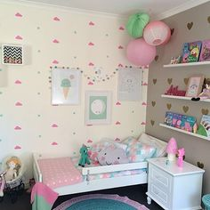 Shared girls' room Having their own individual space Kids Decor, Diy Room Decor, Bedroom Decor, Bedroom Ideas, Bedroom Designs, Bedroom Furniture, Wall Decor, Teen Girl Bedrooms, Little Girl Rooms