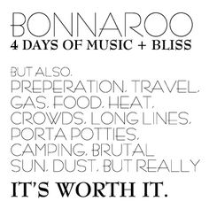 I Love Bonnaroo... And yes, it's definitely worth it!