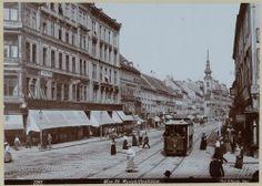 When the trams ran down Mariahilfer Strasse. 7., Mariahilfer Straße 26-48 (zwischen Stiftgasse und Kirchengasse) Kirchen, Museum, Snow, Outdoor, Outdoors, Outdoor Games, The Great Outdoors, Museums, Eyes