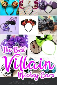 Wickedly Cool Villain Mickey Ears for Disney Wow! If you love Disney villains, you're going to LOVE these amazing Villain Mickey ears. They're bad, they're bold and they're fun. Click through to see all the baddies at their best! Disney Diy, Diy Disney Ears, Disney Mickey Ears, Disney Crafts, Disney Trips, Anna Disney, Ariel Disney, Disney Bound, Disney Magic