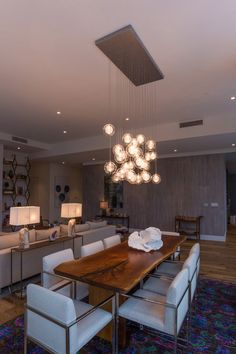 Kadur Chandelier Artisan Made Blown Glass Custom Designed Lighting Drizzled Threads Hover Modern LightingLighting IdeasDining Room