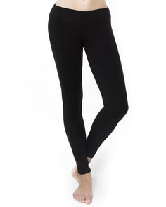 Black Leggings Organic Cotton