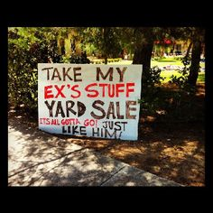 Yard sale...lol OMG LOL