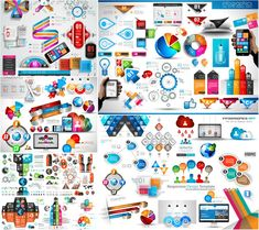 Glossy 3D Creative Infographic Pack Template