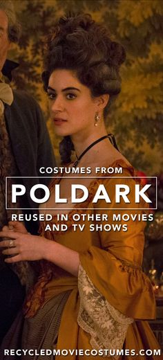 """Many costumes from """"Poldark"""" have been reused from other television shows and films.  You can see more at the Recycled Movie Costumes tumblr! #RecycledMovieCostumes #RecycledCostumes #ReusedCostumes #Poldark #CrystalLeaity #Costume #CostumeDrama #PeriodDrama Recycled Costumes, Poldark, Movie Costumes, Period Dramas, Movies And Tv Shows, Recycling, Films, Books, Movie Posters"""