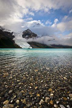 """Pebbles and Glaciers"" - Berg Lake, Mount Robson Provincial Park, B.C., Canada."