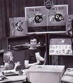 """Romper Room with Miss Barbara early 1960s TV...great page about this show, lots of pictures. The Magic Mirror: """"Romper, bomper, stomper, boo. Tell me, tell me, tell me do. Magic Mirror, tell me today. Did all my friends have fun today?"""" , Do Bee - Don't Bee..""""Bend and stretch, Reach for the stars. There goes Jupiter. There goes Mars."""""""