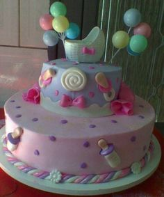 Cool cake for a baby shower