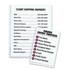 C-LINE PRODUCTS, INC Self-Adhesive Shop Ticket Holders, 9 X 12, 50/Box