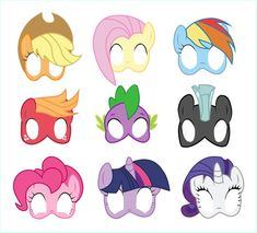 Little pony masks photo booth props Magical unicorn backdrop My pony Printable birthday party mask My Little Pony Party, My Little Pony Cumpleaños, Fiesta Little Pony, Cumple My Little Pony, Little Pony Cake, Little Poney, Little Unicorn, Dragon Birthday, Unicorn Birthday Parties