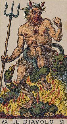 The Devil - Ancient Italian Tarot