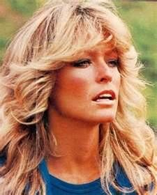 Farrah Fawcett iconic hair..