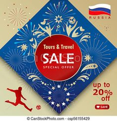 2018 world cup russia fifa soccer sale banner with sports... clip art - Search Illustration, Drawings, and EPS Vector Graphics Images - csp56155429