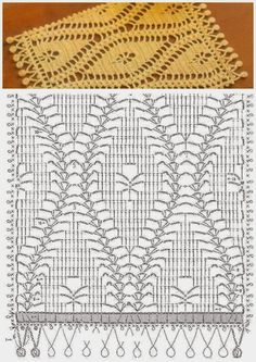 Nice crochet stitch + diagram blanket home Crochet Lace Scarf, Crochet Diagram, Crochet Stitches Patterns, Crochet Chart, Thread Crochet, Love Crochet, Crochet Scarves, Stitch Patterns, Knitting Patterns