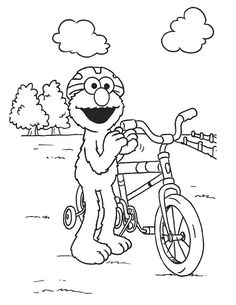Baby Elmo Coloring Pages