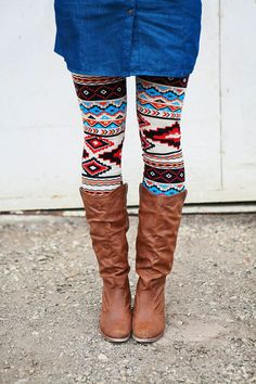 These are totally growing on me! Love love them. Ruby Bloom Boutique — Aztec Leggings