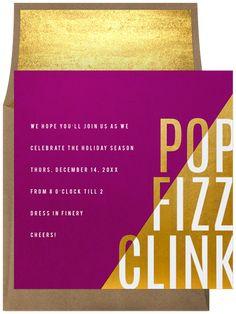 Pop Fizz Contrast by Signature Greenvelope | Greenvelope.com