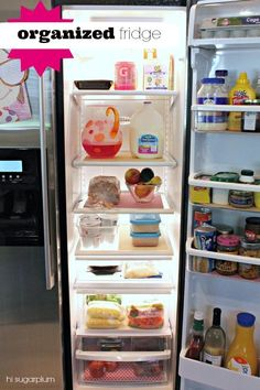 Everything is better when it's organized, even your refrigerator.