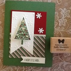 Love the new tree stamp/punch bundle. Www.judyshowers.stampinup.net