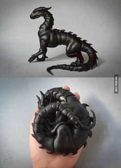 Super adorable posable ball-joint dragon pets.