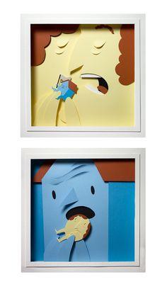 """by Bomboland – Chi mangia chi, 2011  Exhibition at galleria """"Il battito d'ali"""""""