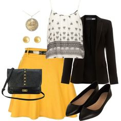 """""""Yellow"""" by theprix on Polyvore"""