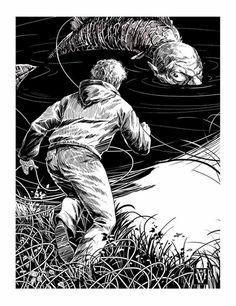 Illustrations to Ania Kirillova's novel «Big Height» by Sergej Loginov
