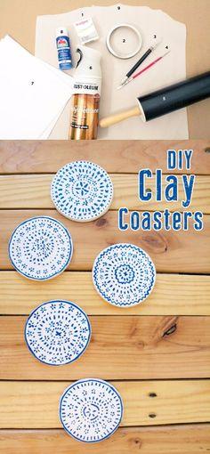 Posavasos de arcilla - keptblog.com - DIY Clay Coasters