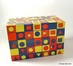 Retro Geometric Recipe Box