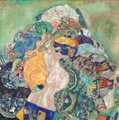 Global Gallery 'Baby by Gustav Klimt Framed Painting Print Size: 2 Klimt, Baby Print Art, Modern Canvas Art, Baby Art, Painting, Gustav Klimt, Stock Art, Art, Art World