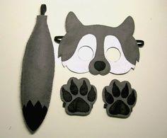 Wolf fühlte Maske Schwanz Pfoten Set für Kinder 2-10 Jahre