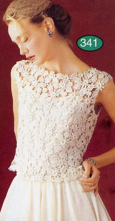 simple sleeveless top irish crochet                                                                                                                                                                                 Mais