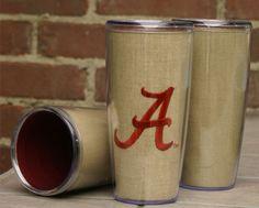 Alabama Khaki Acrylic Cup