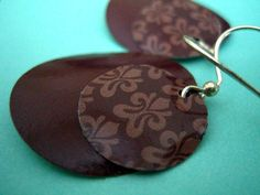 Chocolate Layers - Recycled Earrings