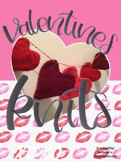 Free knitting patterns for Valentine's Day