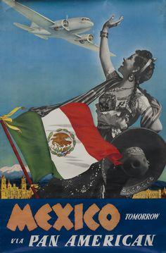 Mexico Tomorrow - Pan Am by Artist Unknown (1940 ca.) | Shop original vintage posters online: www.internationalposter.com