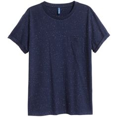 T-shirt with Chest Pocket $9.99 ($9.99) ❤ liked on Polyvore featuring tops, t-shirts, blue tee, blue t shirt and blue top
