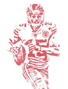 Patrick Mahomes Kansas City Chiefs Water Color Art 11 Art Print by Joe Hamilton. All prints are professionally printed, packaged, and shipped within 3 - 4 business days. Chiefs Football, Football Art, Kansas City Chiefs, Justin Houston, Chiefs Wallpaper, Joe Hamilton, Dak Prescott, Superbowl Champions, Thing 1