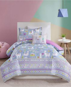 Jla Home Mi Zone Kids Andes Full/Queen 4 Piece Printed Llama Comforter Set Bedding Llamas, Clean Bed, Cactus, Thing 1, Bed In A Bag, Queen Comforter Sets, Space Furniture, Bed Sizes, Kid Beds