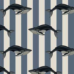 House Of Hackney Baleana Denim Wallpaper
